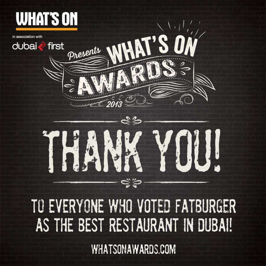 Fatburger Voted Best Restaurant in Dubai 2013