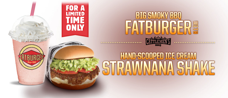 Introducing the Strawnana Milkshake and the Big Smoky BBQ Fatburger