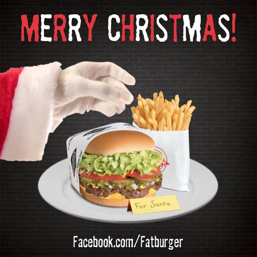 Merry Christmas Fat Burger